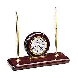 Howard Miller 613-588 Rosewood Desk Set Table Clock