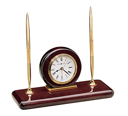 Howard Miller 613-588 Rosewood Desk Set Table Clock (Rosewood Set Table)