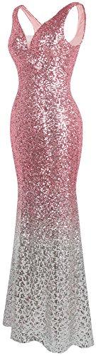 Pente Femme Argent Soiree Angel Paillette De fashions Robe Flapper Gatsby Rose qOznnxEw5