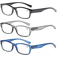 MODFANS Set of Mixed Colors of Reading Glasses with Spring Hinges Vintage Quality Comfort for Men and Women