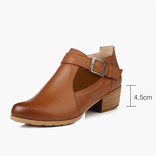 Größen EU41 L Winter 10 UK7 Farbe Braun 2 255mm Stiefeletten Schuhe LIANGJUN Frau Verfügbar Mode Farben Frühling größe xafqIz