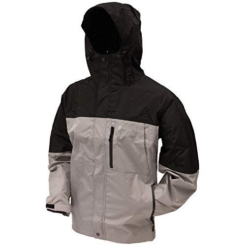 (Frogg Toggs Toadz Toad Rage Rain Jacket, Steel Gray/Black, Size Medium)