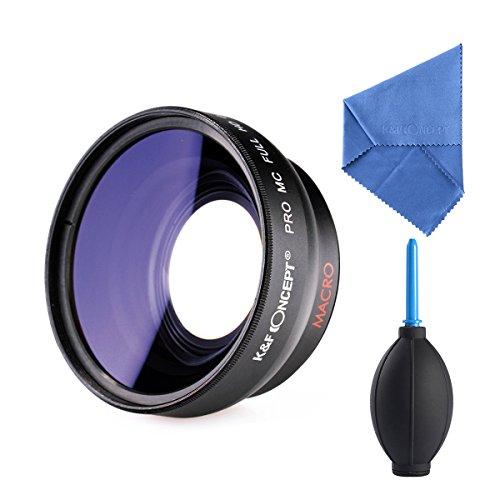 K&F Concept® 58mm HD Weitwinkelobjektiv,Weitwinkel Kamera,Weitwinkelvorsatz 0.45X,Weitwinkel Objektiv Canon,Weitwinkelvorsatz 58mm,Weitwinkel für Canon Nikon Sony Kamera