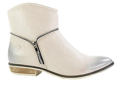 Boots Fabs Heel Ankle Size Toe Ladies 3 Zip Cowboy Ice Western 9 Faux Leather Pointed Block Fabulous 7TvqdT
