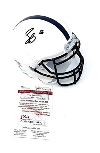 - Saquon Barkley Penn State Nittany Lions Signed Autograph Schutt Mini Helmet JSA Witnessed Certified