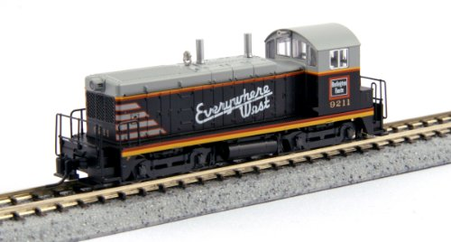 """Kato USA Model Train Products EMD NW2#9211 CB and Q""""Everywhere West"""" N Scale Train from Kato USA Model Train Products"""