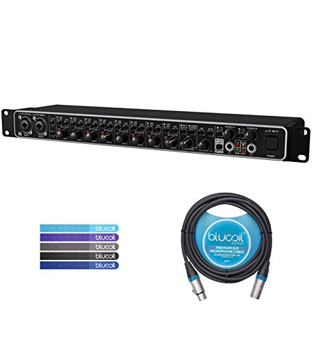 Behringer U-PHORIA UMC1820 18x20 USB 2.0 Audio/MIDI Interface Bundle with Blucoil Audio 10-Ft Balanced XLR Cable and 5-Pack of Reusable Cable Ties