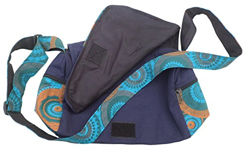 Print Navy Boho Bag Hobo Shopping Trade Nepalese Travel Mix Cotton Shoulder Fair SvtxFBqw