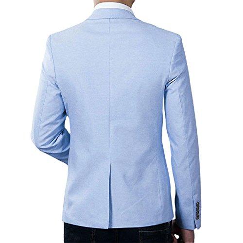 4d1f27afe701 Pishon Men s Casual Blazer Jacket Solid Lightweight Slim Fit One Button  Sport Coats