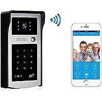 Wi-Fi Video Doorbell Pro Password Unlock By Card Visual Doorbell HD Video Night Vision Support Remote Unlocking Motion Sensor Panel Door Camera Waterproof Video Phone
