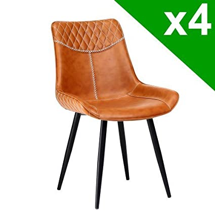 Astonishing The Furniture Market Stanton Vintage Tan Brown Faux Leather Andrewgaddart Wooden Chair Designs For Living Room Andrewgaddartcom