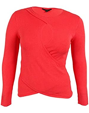 Guess Women's Long Sleeve Crossover Sweater