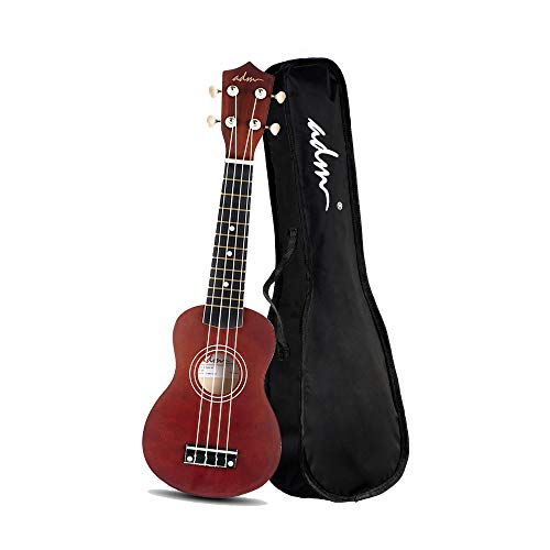 ADM Soprano Ukulele Beginner Ukulele Kit with Gig Bag, Kids Ukelele Package, Brown (Best Ukulele For Beginners)