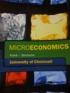Microeconomics, University of Cincinnati