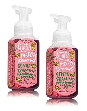 Lemonade Body - Bath and Body Works Gentle Foaming Hand Soap, Watermelon Lemonade (2-Pack) 8.75 Ounce with Avocado Oil