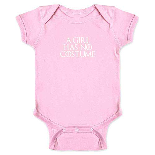 A Girl Has No Costume Halloween Costume Funny Pink 6M Infant Bodysuit ()