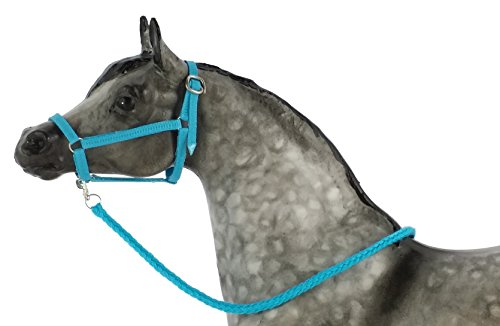 Model Horse Halter and Lead Rope, Neon Blue