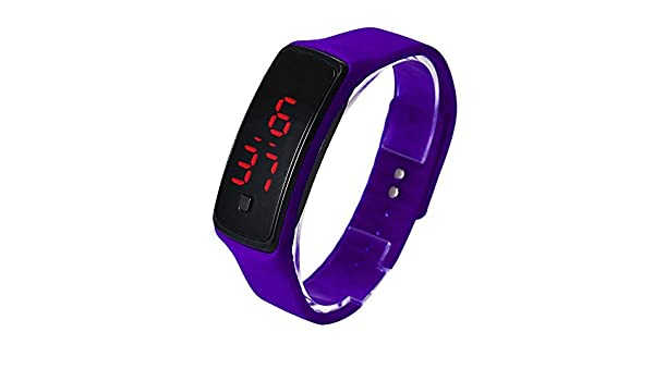 Amazon.com: UltraZhyyne(TM) Relojes hombre mujer Ultra Thin LED Sport Watches Silicone Digital wristwatch Fashion water resistant montre homme #163: Jewelry