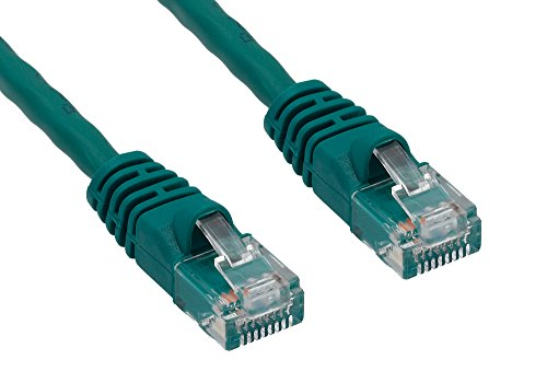 Cablelera ZNWN35GN-100 100 ' Cat 6 UTP Rated 550 MHz Network Patch Cable with Snagless Molded Boots, Green (550mhz Snagless Patch Molded Cables)