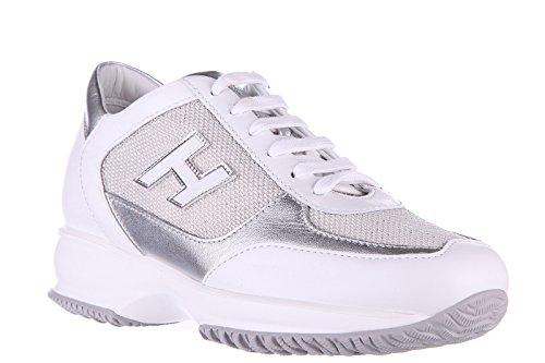 Hogan Damenschuhe Turnschuhe Damen Leder Schuhe Sneakers interactive h flock Sil