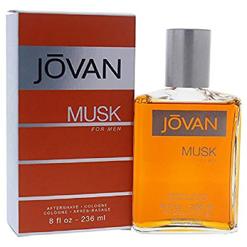 Jovan Musk for Men, After Shave Cologne, 8 fl. oz, Men's Fragrance with Musk, Spicy, Earthy & Woody, A Sexually Appealing & Attractive Spray On Scent That Makes a Great Gift.
