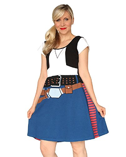 Star Wars- Han Solo Costume Dress Mini Dress Size S