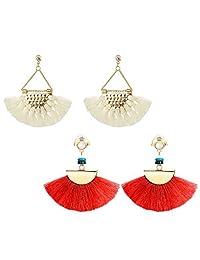 JOERICA 1-3 Pairs Dangle Womens Earrings Long Fringe Drop Earrings Tassel Ear Drop