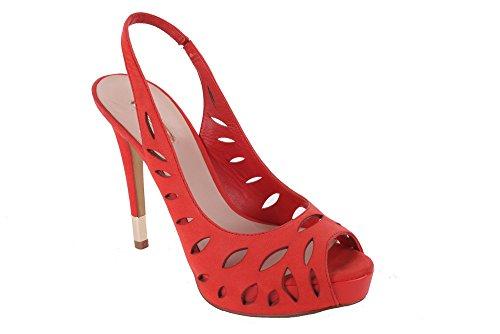 Guess - Sandalias de vestir de Piel para mujer Rojo