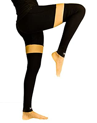 Athletic Calf + Knee Copper Compression Sleeves- Aids leg Circulation and Blood Flow- Endurance/ Recovery- 2 Sleeves
