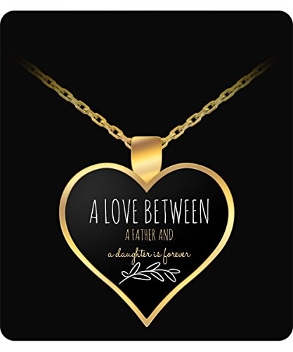 Father Daughter Gift - Necklace Gold Heart Shaped Design