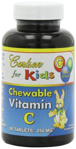Carlson Labs, Carlson For Kids Chewable Vitamin C, 250mg, 60 Tablets