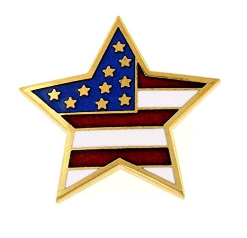 American Flag Brooch or Pin - Gold Enameled Star Shopping Results