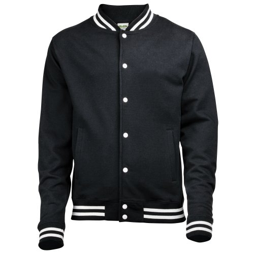 (Awdis Mens College Jacket (L) (Jet Black))