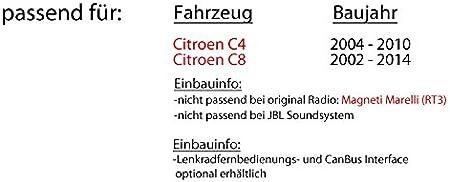 USB CD JVC KD-DB98BT Bluetooth MP3 JUST SOUND best choice for caraudio Android iPhone Autoradio Einbauset f/ür Citroen C4 C8 DAB+