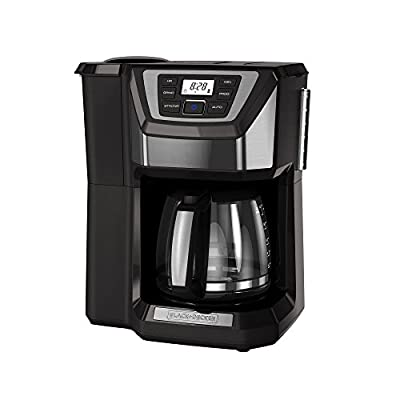 BLACK+DECKER CM5000GD 12-Cup Mill and Brew Coffee Maker, Black/Grey