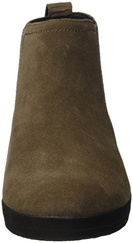 Fitflop Superchelsea Tm Boot, Zapatillas Altas para Mujer Beige (Bungee Cord)