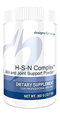 Designs for Health - H-S-N Complex Skin and Joint Support Powder for Healthy Hair, Skin and Nails, 360 Grams