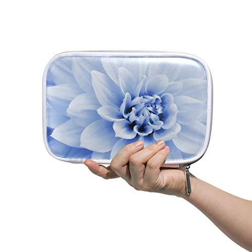 Bardic Pen Pencil Case Dahlia Flower Pattern Makeup Brush Bag Travel Organizer Cosmetic Pouch Passport Holder for Men Women