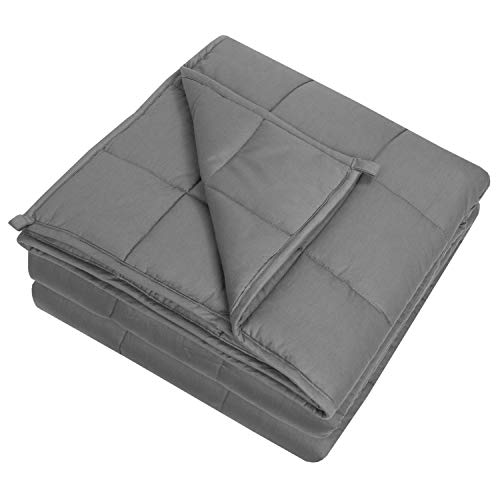 Cheap Sweet Home Collection Weighted Blanket Quality Heavyweight Cozy Soft Breathable and Comfortable Bedding with Premium Grade Glass Beads 60