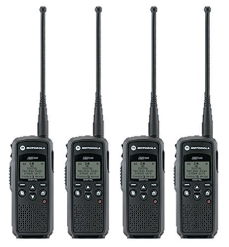 4 Pack of Motorola DTR550 Two Way Radio Walkie Talkies by Motorola