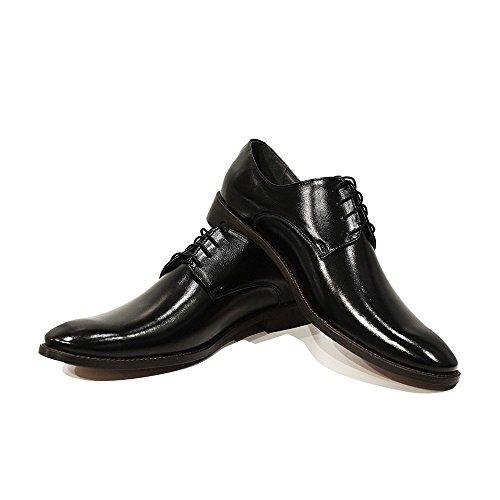 meilleur gros rabais Modello Giuseppe - 45 Eu - Chaussures Habillées À La Main En Cuir Italien Homme Cuir Noir Richelieus - Cuir Souple En Cuir - Dentelle Livraison gratuite vraiment authentique à vendre Livraison gratuite fiable offres YbaUHI