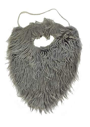 JHat Co. Grey Full Beard and Mustache Costume -