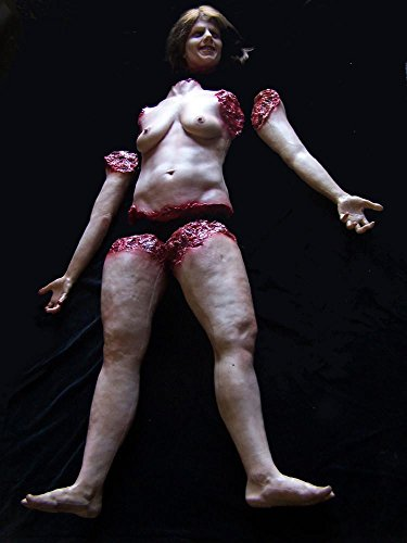 BACK FROM THE GRAVE Halloween Prop Chopped Up Female Cadaver The Walking Dead Zombie Haunted House Corpse]()
