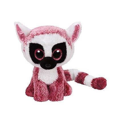 Amazon.com  TY Beanie Boos LEEANN - pink lemur reg Plush  Toys   Games 2cfb2c85bb6