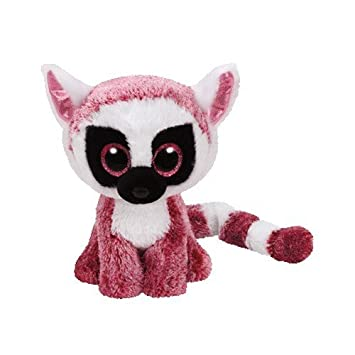 Ty - Beanie Boos Leeann, Lemur, 15 cm, Color Rosa (United Labels