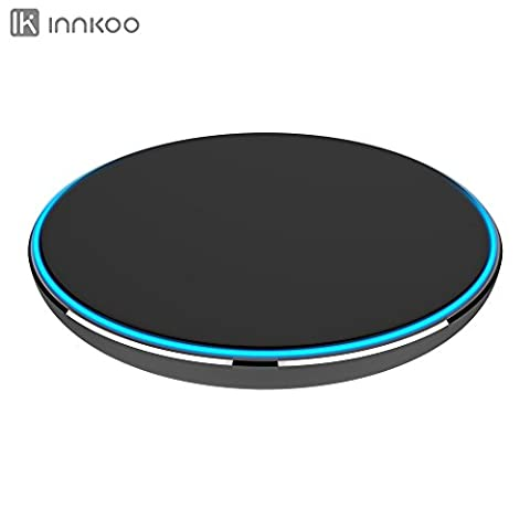 Wireless Charger, InnKoo G3 Wireless Quick Charging Pad for Samsung Galaxy S7, S7 edge, S6, S6 edge, S6 Edge+, Note 5, Google Nexus 4/5/6/7, and All Qi-enabled Devices (Nokia Lumia 1520 Belkin Case)
