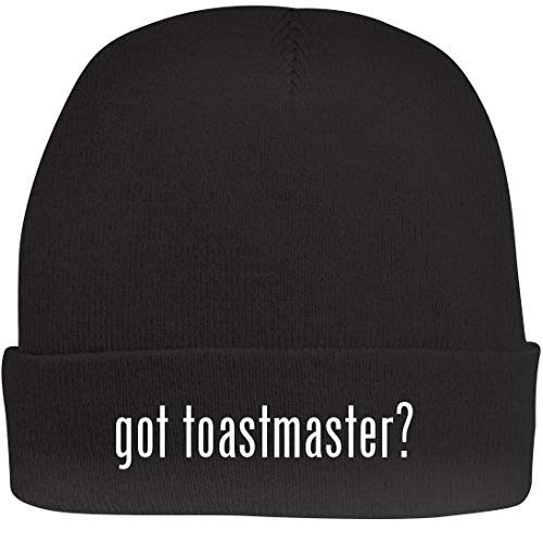 Shirt Me Up got Toastmaster? - A Nice Beanie Cap, Black, OSFA