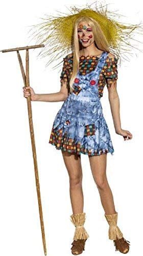 Ladies Harvest Scarecrow School Festival Halloween Carnival TV Book Film Fancy Dress Costume Outfit (UK 14-16)