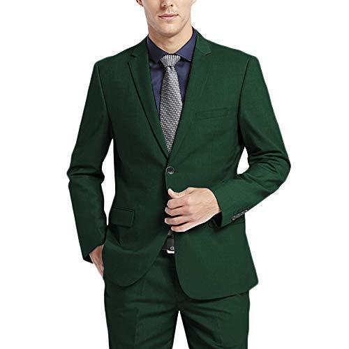 - WEEN CHARM Men's Suits One Button Slim Fit 2-Piece Suit Blazer Jacket Pants Set Green