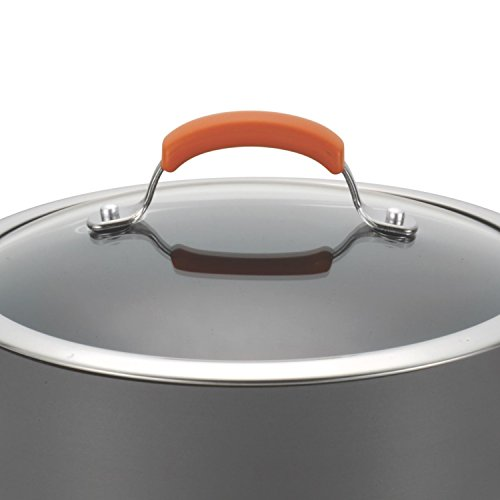 Rachael Ray Hard Anodized II Nonstick Dishwasher Safe 10-Piece Cookware Set, Orange by Rachael Ray (Image #12)